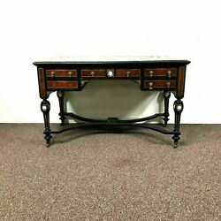 19th Century English Edwards And Roberts Writing Desk W/ Wedgwood Inserted Plaques