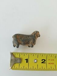 Small Antique Metal Kids Sheep / Lamb Toy. Non Magnetic