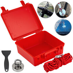 Fishing Magnet Kit Upto 500 Lbs Pull Force Strong Neodymium +rope+case+shovel