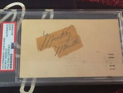 Rare Early Ny Yankees Rookie 1951 Mickey Mantle Autograph Signed Postcard Psadna