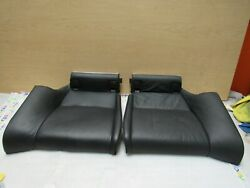 2009-2013 Bmw E92 M3 M Coupe Rear Bottom Seat Cushion In Novill Leather Pair Oem