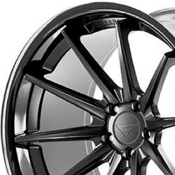 4 New 22 Ferrada Fr4 22x9 22x10.5 Black Concave Wheels Rims B3