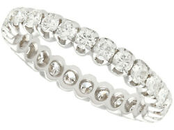 Vintage French 1.10ct Diamond And 18k White Gold Full Eternity Ring Circa 1970