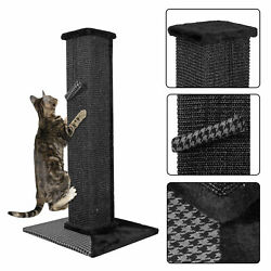 32quot; Sisal Scratching Post Cat Tree House Condo Tower Play Kitty Climbing Furnitu