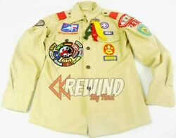 Bsa Uniform Shirt, 225 Patrol Leader Many Patches, Vintage Boy Scouts Of America