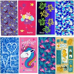 Kaufman Personalized Beach Towels for Kids30quot;x 60quot; Embroidered Name. $19.99