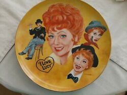 I Love Lucy The Lucille Ball Tribute Plate By Mike Hagel Plate W/coa