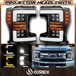 For 17-19 F250 F350 Nova Projector Headlights W/ Activation Sequential Signal