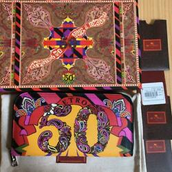 ETRO 50th Anniversary Capsule Collection Wallet 10×19×2cm 12 card pockets