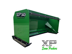 8and039 Xp30 John Deere Snow Pusher W/pullback Bar- Tractor Loader - Local Pick Up
