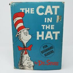 1957 Dr. Seuss Cat In The Hat First Edition First Print 2.00 Hcdj - Matte Cover
