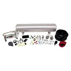 Air Lift 4-way Manual Control System 100 Duty 1/4in Line 4 Gal. Tank.