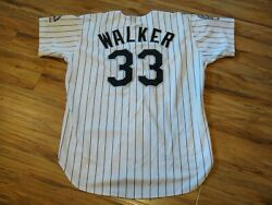 LARRY WALKER GAME USED WORN 1995 COLORADO ROCKIES HOME JERSEY HOF HALL OF FAME