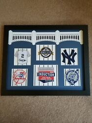 2020 DEREK JETER 16X20 HALL OF FAME TRIBUTE OFFICIAL PATCHES QUALITY GIFT!!