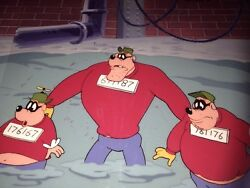 Disney's Ducktales Original Series Beagle Boys Productions Cells And Background