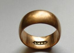 Lmandb Rr Railroad 10kt 10ct Red / Rose Gold Ring - Collectible