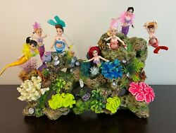 The Little Mermaid - Ariel And Sisters Customized Doll Set Diorama With Lighting