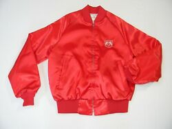 VTG DODGE RAM USA MADE KING LOUIE SATIN SEWN PATCH TRUCK CAR CLUB JACKET~S~VGC