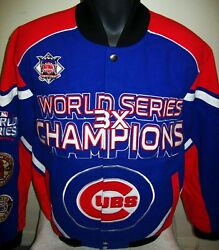 Chicago Cubs Ultimate 3 Time World Series Champ Cotton Jacket Medium, Large, 2x