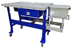 Ideal Steel Top Tear-down Table W/3.5 Gallon Parts Washer Ptdt-pw-1000 Free Ship