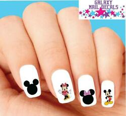Waterslide Nail Decals - Set Of 20 Minnie Mickey Disney Assorted