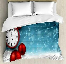 Clock Duvet Cover Set Twin Queen King Sizes With Pillow Shams
