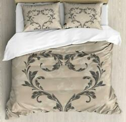 Taupe Duvet Cover Set Twin Queen King Sizes With Pillow Shams Ambesonne