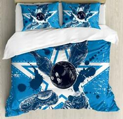 Bowling Party Duvet Cover Set Twin Queen King Sizes With Pillow Shams