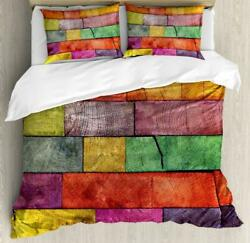 Classical Rustic Duvet Cover Set Twin Queen King Sizes With Pillow Shams