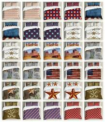 Primitive Country Duvet Cover Set Twin Queen King Sizes With Pillow Shams
