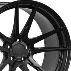 4 22 Staggered Rohana Rfx2 22x9 22x10.5 Black Concave Wheels Forged Rims A3