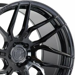 4 20 Staggered Rohana Rfx7 20x9 20x12 Black Concave Wheels Forged Rims A3