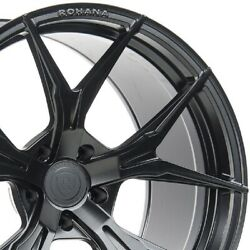 4 19 Staggered Rohana Rfx5 19x8.5 19x11 Black Concave Wheels Forged Rims A3