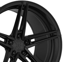 4 20 Staggered Rohana Rfx15 20x9 20x12 Black Concave Wheels Forged Rims A3