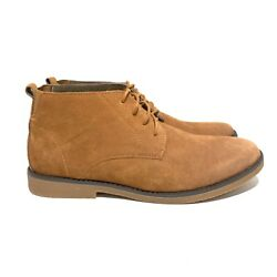 Bruno Marc Shoes Men#x27;s Sz 12 Suede Lace Up Oxfords Chukka Ankle Boots Camel