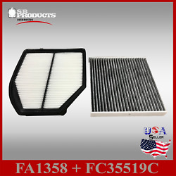 Auto1tech Engine And Carbon Cabin Air Filter For Acura 2016-2019 Ilx 2.4l Engine