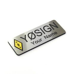 Ham Call Sign Callsign And Name Badge Pin Engraved