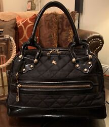 100 Authentic Prorsum Brit Quilted Leather Bag Made In Italy Black