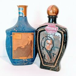 Vintage Jim Beam Whiskey 1968 Blue Whistler's Mother And 1973 Chopin Bottles