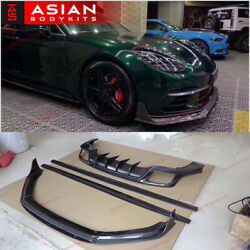 Carbon Body Kit For Porsche Panamera 971 2017+ Front Lip Side Skirts Diffuser