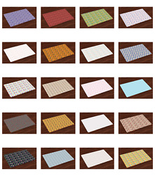 Ambesonne Place Mats Group of 4 Fabric Placemats for Dining 12.5quot; x 18.5quot;