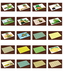 Ambesonne Placemats Set Of 4 Fabric Dining Room And Kitchen Table