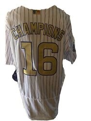 New Mlb Authentic Chicago Cubs Flex Base 16 Jersey 52 2016 World Series - Rare