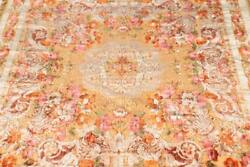 Antique Wall Tapestry In Floral Velvet • Italian In Style W/ Original Busn Card