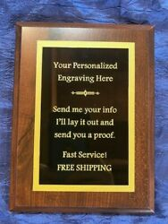 Plaque Employee Of The Month/sports/anything Choose Your Size-free Engraving