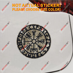 Helm Of Awe Decal Sticker Vegvisir Viking Compass Rune Reflective Glossy Style C
