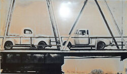 Baldessari Two Trucks - Two Decisions 1996 - Photograph Signed 1/120 Copies