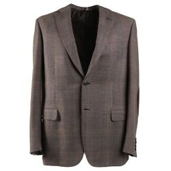 Nwt 4995 Brioni 'brunico' Wool Sport Coat With Suede Elbow Patches 42r