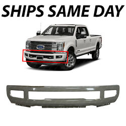New Primered - Front Bumper Face For 2017-2019 Ford F250 F350 Super Duty W/ Fog