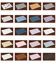 Place Mats 4 Piece Set Fabric Placemats Dining Room 12.5 X 18.5 Ambesonne